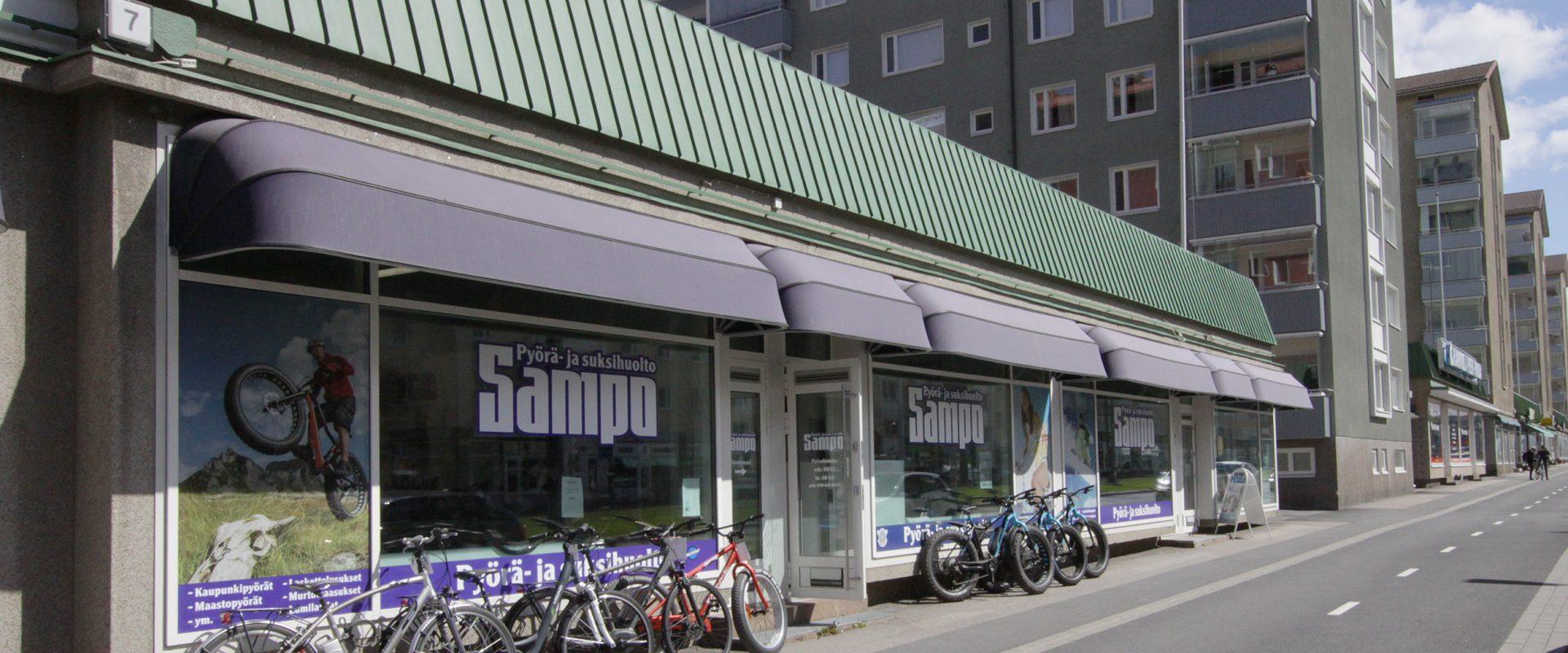 Pyörähuolto Tampereen Sammonkadulla | Pyöräpaja Sampo